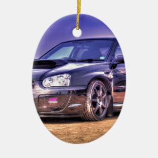 Black Subaru Impreza WRX STi Ornaments