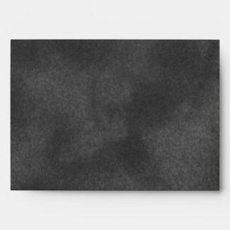 Black Suede Envelope A7 Greeting Card