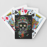 Black sugar mexican Henna skull playing cards