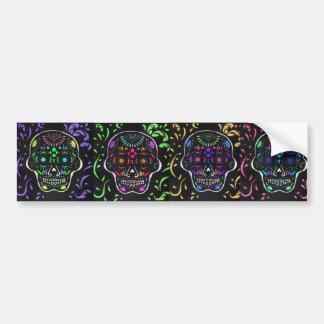 Black Sugar Skull 3 Bumper Sticker