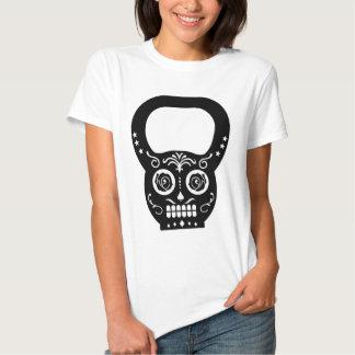 Black Sugar Skull Kettle Bell Tee Shirt