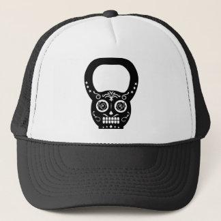 Black Sugar Skull Kettle Bell Trucker Hat