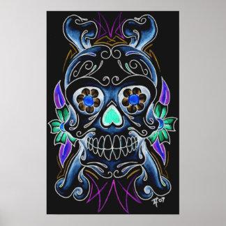 Black Sugar Skull Print