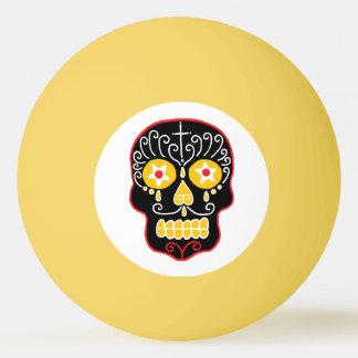 Black Sugar Skulls Ping Pong Ball