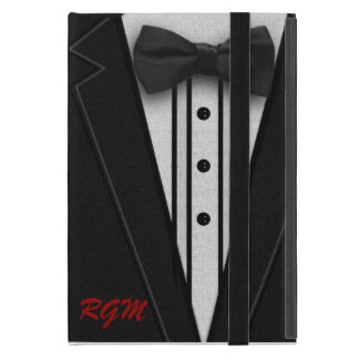 Black Suit Bow Tie and Rose Cases For iPad Mini