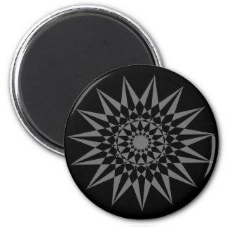 Black Sun 2 Inch Round Magnet