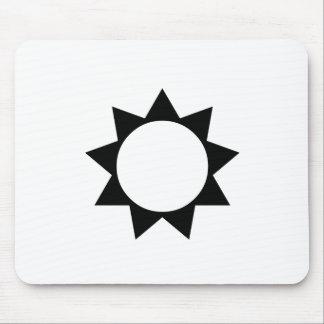 Black Sun Mouse Pad