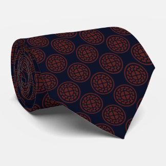Black Sun Pattern Neck Tie