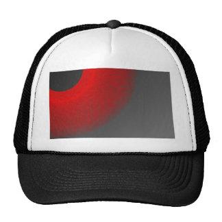 black sun red  light trucker hat