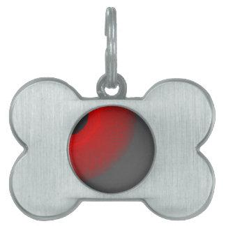 black sun red  light pet name tags