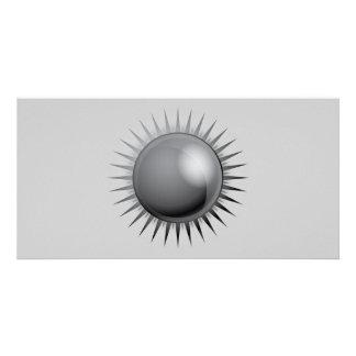 black-sun-vector BLACK GREY GRAY DARK METAL METALL Card