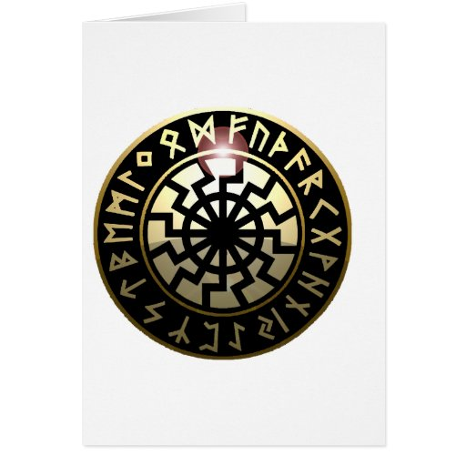 Black Sun wheel Card