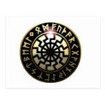 Black Sun wheel Post Card