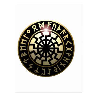 Black Sun wheel Postcard