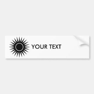 Black Sunburst Bumper Sticker
