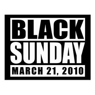 Black Sunday March 21, 2010 Postcard