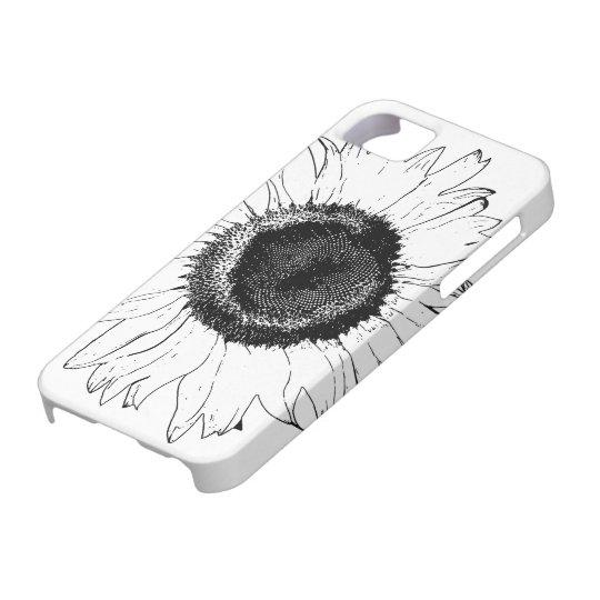Black Sunflower iPhone 5 Case-Mate iPhone SE/5/5s Case