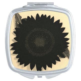 Black Sunflower Mirror For Makeup