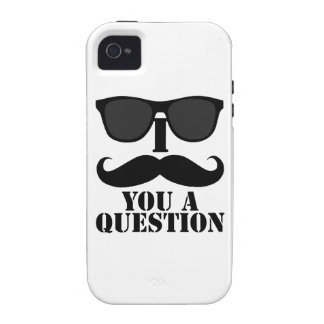 Black Sunglasses and I Mustache You a Question iPhone 4/4S Case