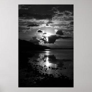 Black Sunset Art Print