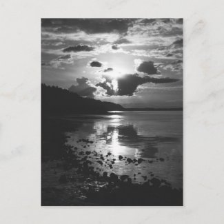 Black Sunset Postcard postcard