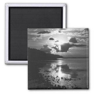 Black Sunset - Study in Monochrome Magnet