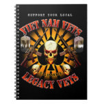 Black Support Viet Nam/Legacy Vets MC Note Pad Note Books