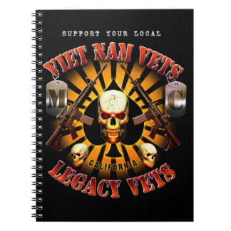 Black Support Viet Nam/Legacy Vets MC Note Pad Spiral Notebook