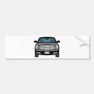 Black SUV front view Bumper Sticker