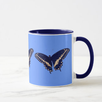 Black Swallow Longtail Mug