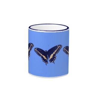 Black Swallow Longtail Ringer Coffee Mug