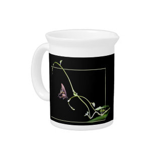 Black swallowtail butterfly beverage pitcher