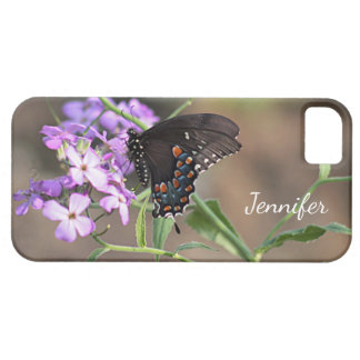 Black swallowtail butterfly iPhone SE/5/5s case