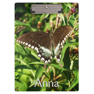Black Swallowtail Butterfly Nature Photography Clipboard