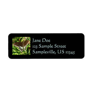 Black Swallowtail Butterfly Nature Photography Label