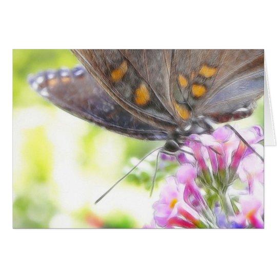 Black Swallowtail Butterfly on Buddleia Bush Card
