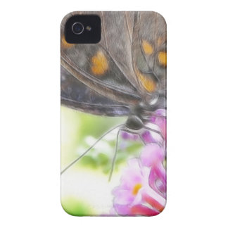 Black Swallowtail Butterfly on Buddleia Bush Case-Mate iPhone 4 Cases