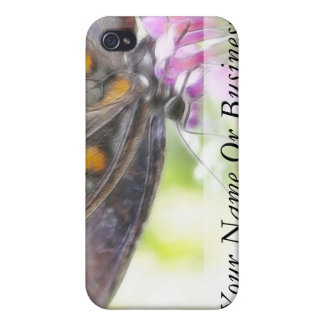 Black Swallowtail Butterfly on Buddleia Bush Covers For iPhone 4