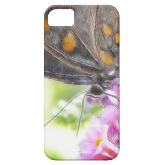 Black Swallowtail Butterfly on Buddleia Bush iPhone SE/5/5s Case