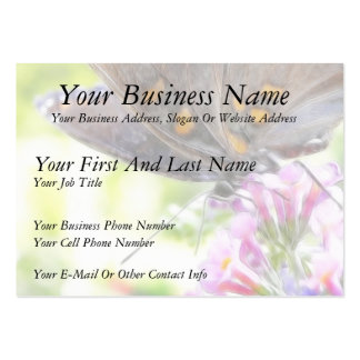 Black Swallowtail Butterfly on Buddleia Bush Large Business Card