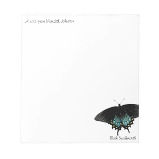 Black swallowtail Butterfly photo notepads