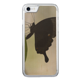 Black Swallowtail Carved iPhone 8/7 Case