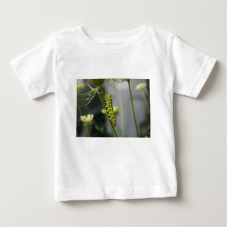 Black swallowtail caterpillar (parsleyworm) on Dil Baby T-Shirt