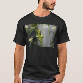 Black swallowtail caterpillar (parsleyworm) on Dil T-Shirt