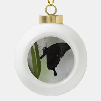 Black Swallowtail Ceramic Ball Christmas Ornament