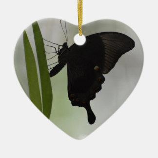 Black Swallowtail Ceramic Ornament