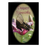Black Swallowtail Sympathy Card-customize Greeting Card