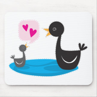 Black swan baby love you mom! mouse pad