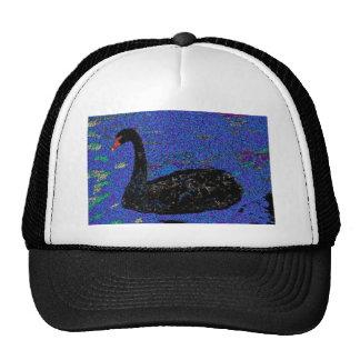 Black Swan Cap Mesh Hats