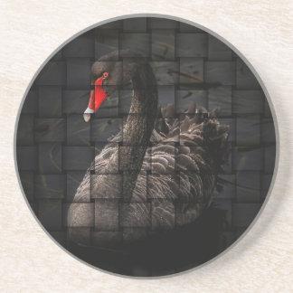 Black Swan Flax Drink Coaster